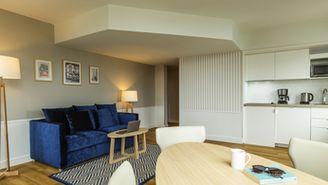 1-Zimmer-Apartment für 4 Personen mit Blick auf den Eiffelturm.