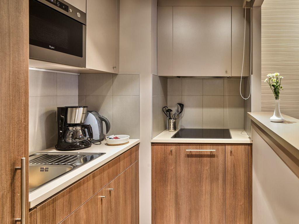Apartment mit einem Schlafzimmer und Doppelbett