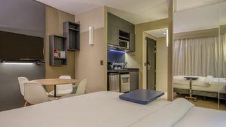 Apartment mit 2 Schlafzimmern mit 2 Doppelbetten für maximal 4 Personen