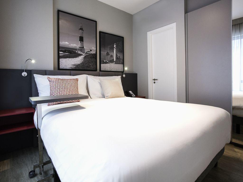 Apartamento com sala e quarto para até 4 pessoas