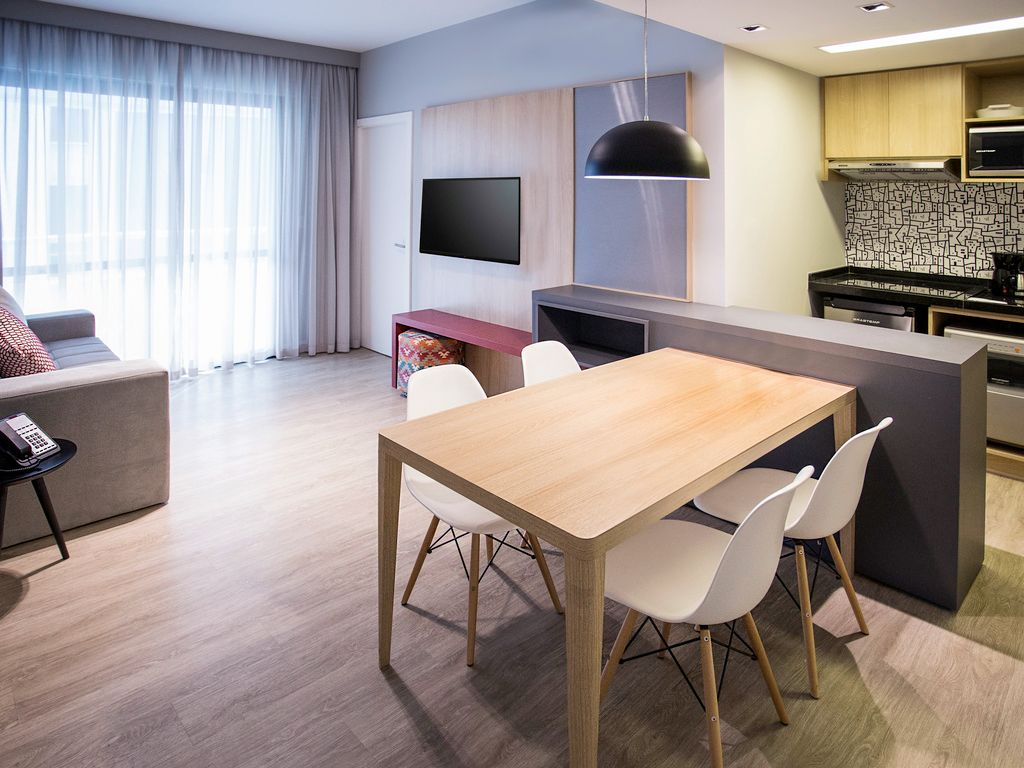 Apartment with living room and bedroom for up to 4 people