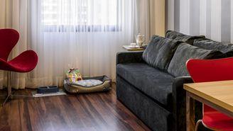 Superior-Apartment - Kingsize-Bett, ausgestattete Küche