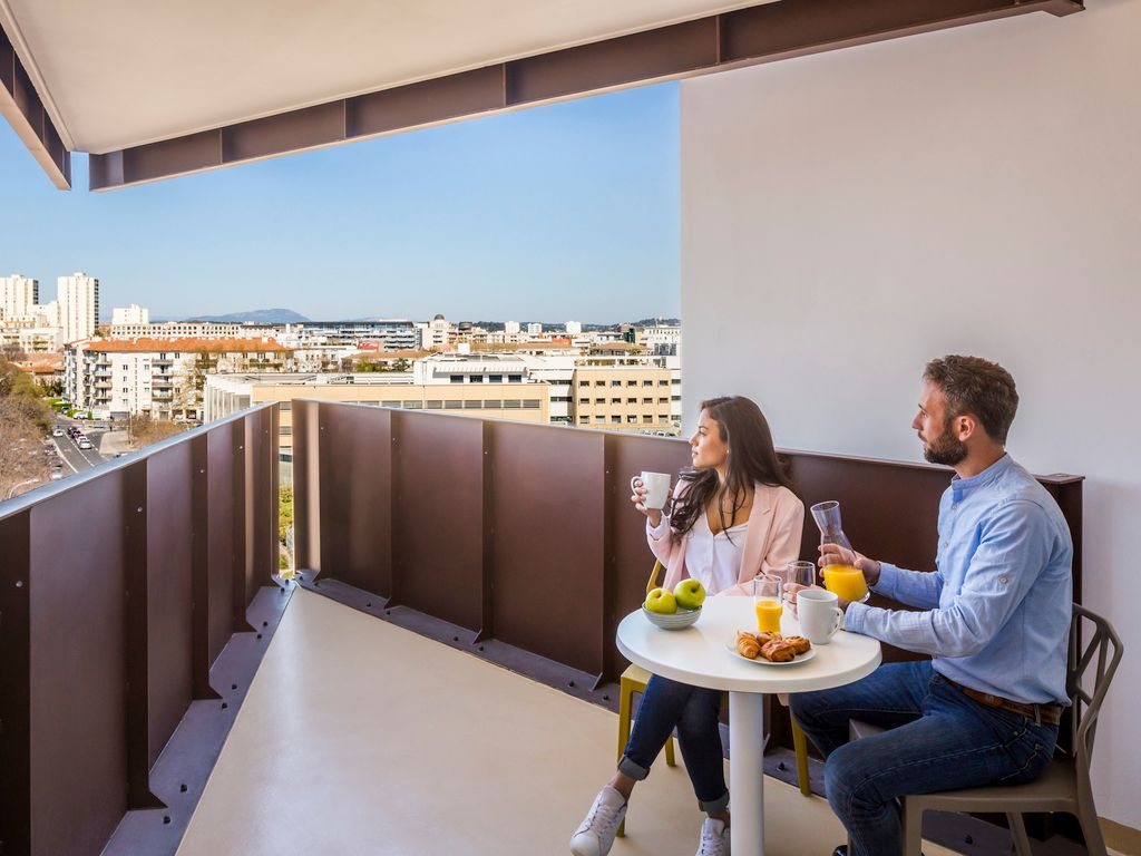 Studio with balcony for 4 people