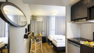 Studio pour 2 personnes avec 2 lits séparés