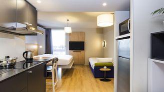 Studio für 4 Personen mit 1 Doppelbett und 2 Schlafsofas