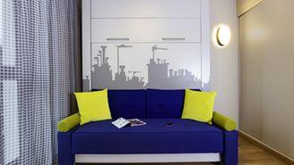 Estúdio para 4 pessoas com 1 cama de casal e 2 sofás-cama