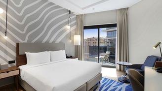 Apartment mit einem Schlafzimmer und Balkon
