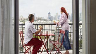 Apartamento superior de 1 quarto com varanda para 4 pessoas