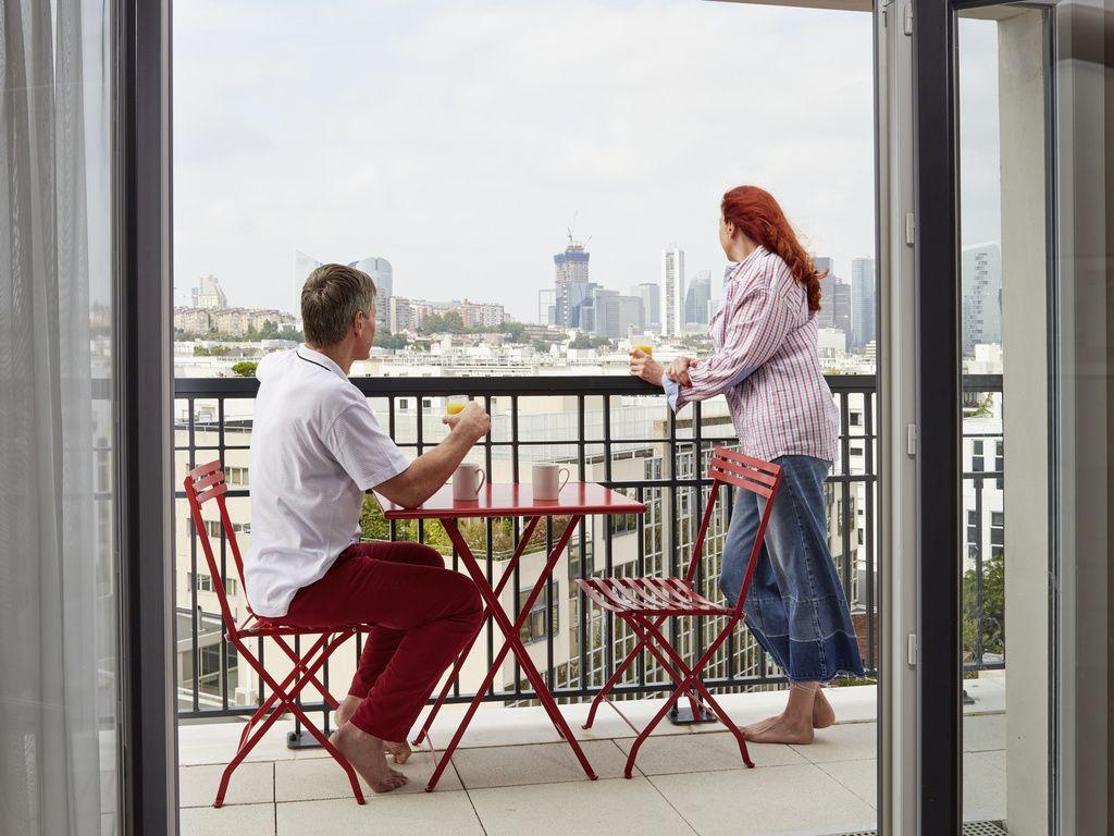 Estúdio Superior para 2 pessoas com varanda