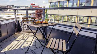 Studio avec balcon pour 3personnes