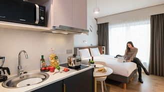 Elegant studio for 2 guests including 1 double bed or 2 single beds